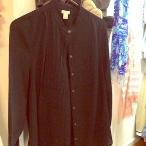Jcrew factory black blouse